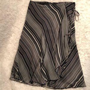 Express wrap skirt, striped